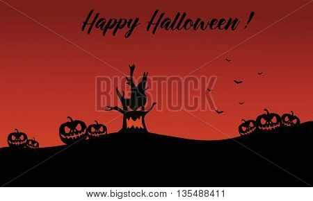 Backgrounds halloween pumpkin and monster vector illustration