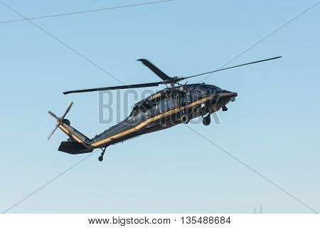 U.s. Customs And Border Protetion Sikorsky Uh-60A Black Hawk Helicopter