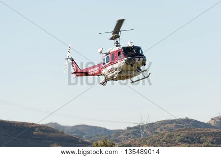 Bell Uh-1H Rotorcraft  Helicopter During Los Angeles American Heroes Air Show