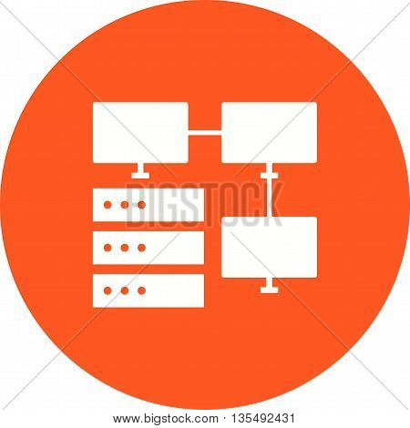 Internet, connection, server icon vector image.Can also be used for data sharing. Suitable for mobile apps, web apps and print media.