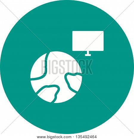 World, data, internet icon vector image.Can also be used for data sharing. Suitable for mobile apps, web apps and print media.