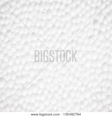 The polystyrene Styrofoam foam texture or background