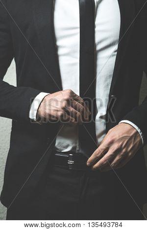 Elegant young fashion man