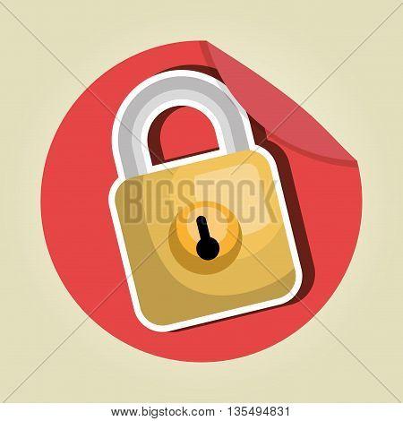 padlock icon  design, vector illustration eps10 graphic