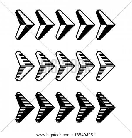 decoration arrow black symbol vector