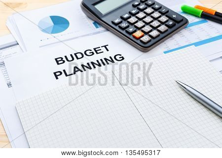 Budget Planning With Blank Notebook