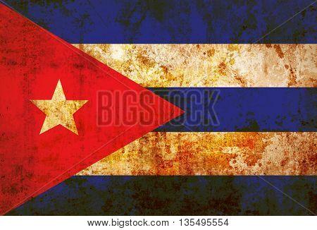 Grunge Puerto Rico Flag paper texture  background