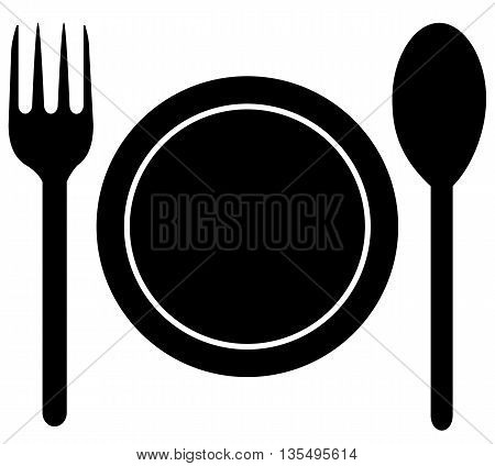 silverware kitchen image equipment utensil food symbol Restaurant vector flat icon