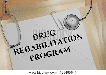 Drug Rehabilitation Program Medical Concept