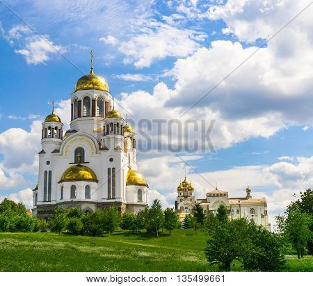 View of Church on Blood in Honor of All Saints Resplendent in the Russian Land Yekaterinburg