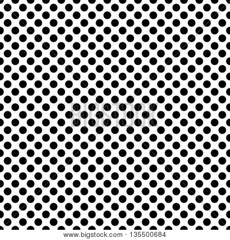 Seamless Circle Pattern. Vector Regular Polka Texture. Minimal Geometric Wallpaper