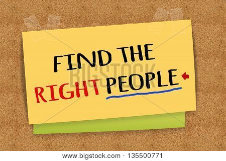 Find the right people on sticky note