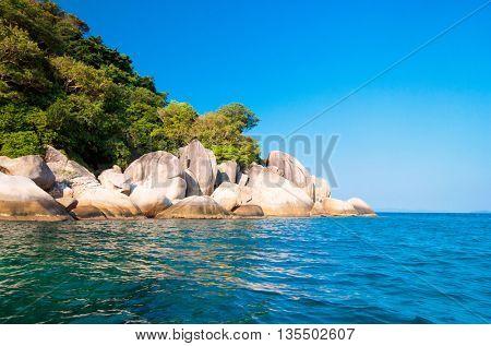 Lagoon Boulders Blue Seascape
