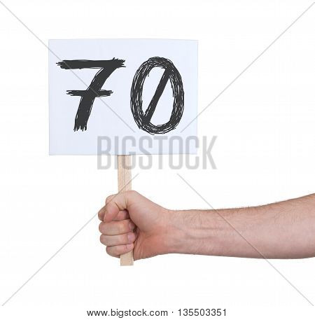 Sign With A Number, 70