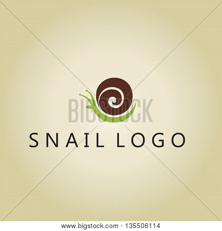 snail logo vector ideas design on background