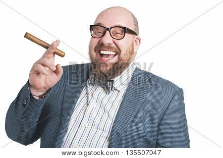 Laughing Man With A Cigar..