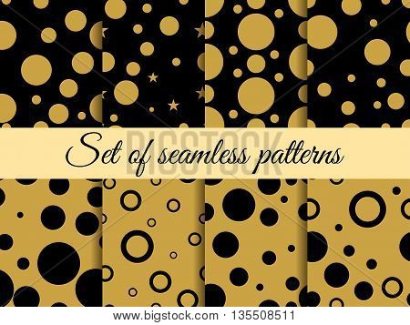 Seamless Pattern With Circles. Pattern With Circles And Dots. Stains. The Pattern For Wallpaper, Til