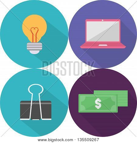 Business Icons   Set of great flat icons with style long shadow icon and use for Business, Finance, Marketing and much more.