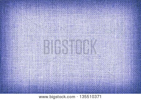 Natural Sackcloth Textured For Background, Blue Colour