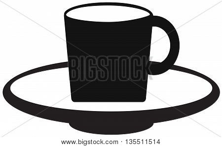tea cup icon coffee drink computer icon cup tea steam vector