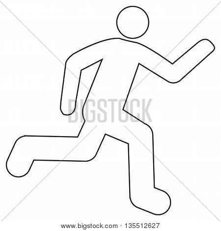Jogging Icon line running computer icon men jogging