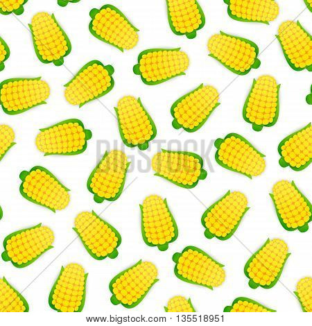 Seamless pattern with corns. Isolated on white background. Clipping paths included.