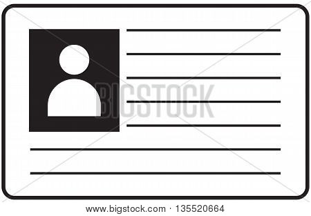 Id card black background access card identification