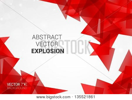Abstract Vector Explosion Of Colorful Particles Background