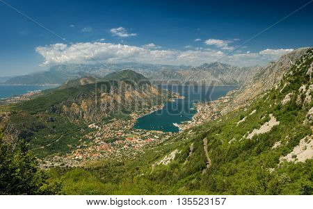 View of Kotor city and Bay - Montenegro