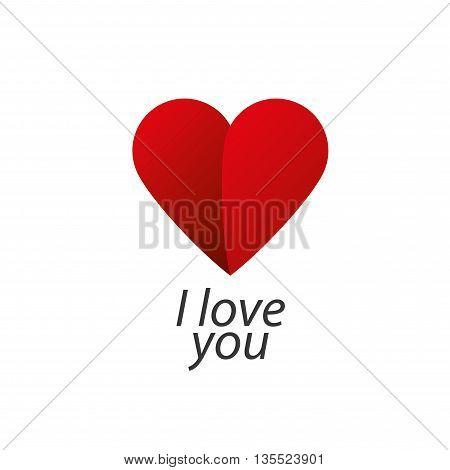 Pattern vector heart logo. Declaration of love