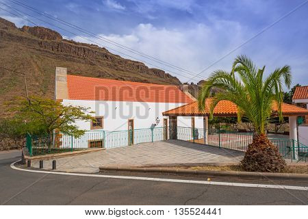 Small church in the mountains of Gran Canaria island, Spain