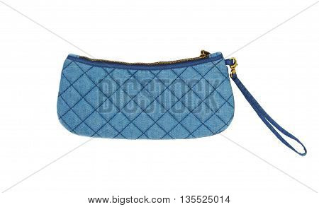 wallet Jeans on white background money bag.