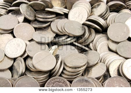 Dinero - piezas de 5 peniques