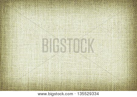 Natural sackcloth textured for background green colour.