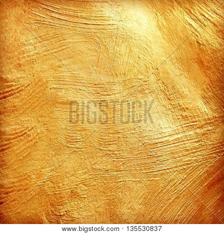 The golden cement texture background. abstract gold texture /gold or yellow surface background