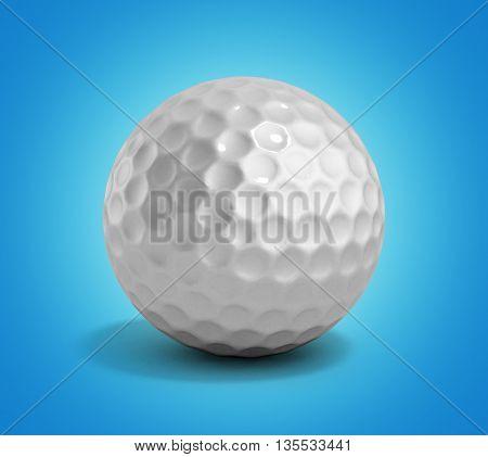 golf ball 3d render on gradient background