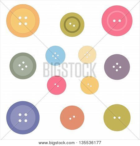 Nice picture with buttons painted in delicate colors