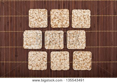 Composition Of Square Nine Crunchy Rye Crispbreads