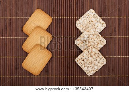 Crunchy Rye Crispbreads And Cookies, Health Concept
