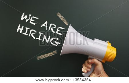 megaphone with text we are hiring