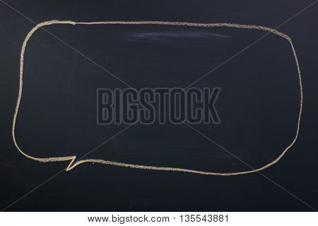 speech bubble on the blackboard