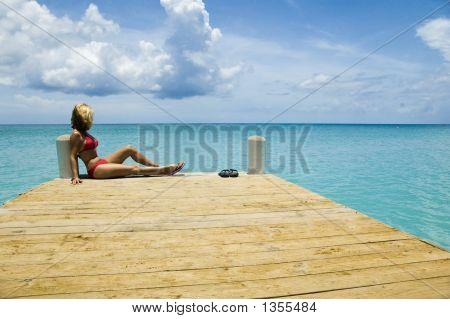 Blond On Pier