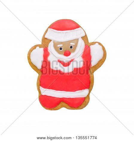 christmas cookie funny Santa isolated on white