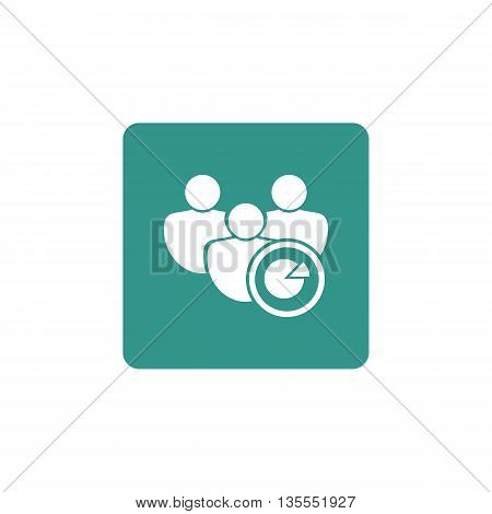 User Pie Icon In Vector Format. Premium Quality User Pie Symbol. Web Graphic User Pie Sign On Green