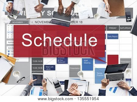 Schedule Organization Planning List To Do Concept