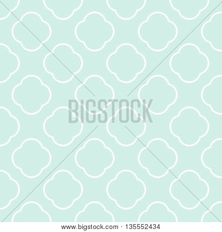 Seamless vector geometric Pattern green background and texture