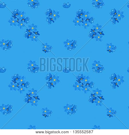 Floral seamless pattern with forget-me-not. Forget me not flowers. Good for web, print, wrapping paper