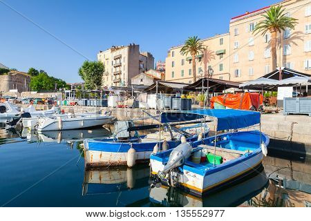 Boats In Ajaccio, South Corsica, France
