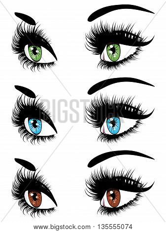 Fashion Eyes In Three Colors