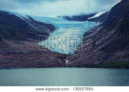 Svartisen Glacier landscape in Norway